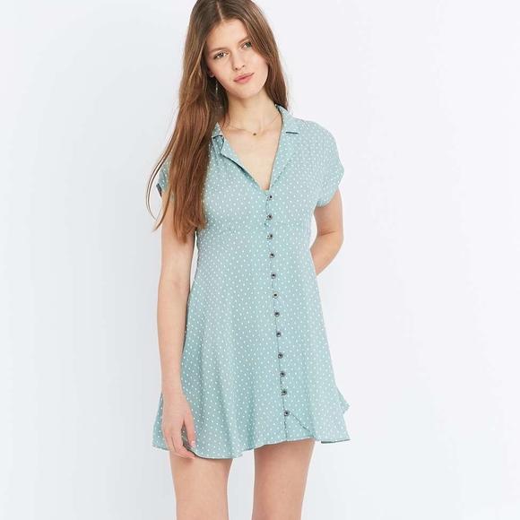b3cb4bb34dc Kimchi Blue Dresses   Skirts - Urban Outfitters Kimchi Blue Lucy Sky Polka  Dress